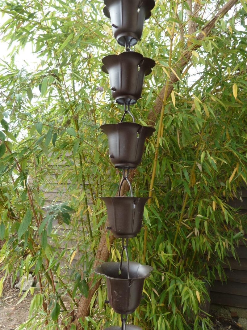 Kusiro esta una canalón decorativa en cobre originario del Japón.