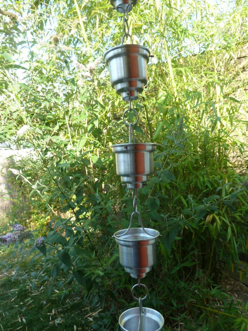 Canalón de aluminio - Cadena de lluvia